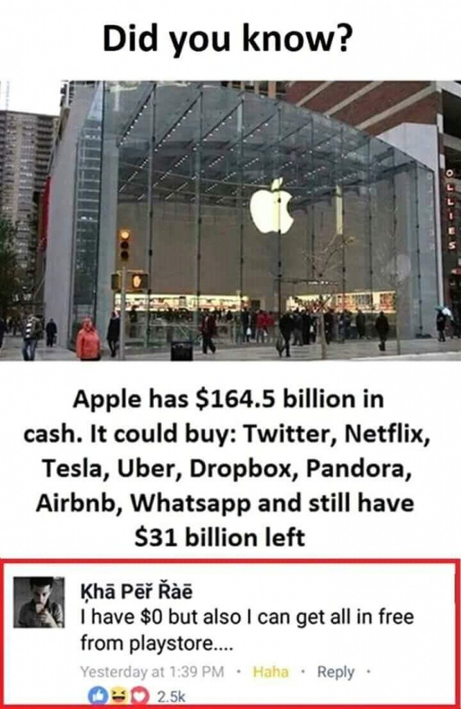 apple company funny joke