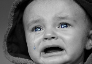 Child crying as he lost, every thing at the beginning