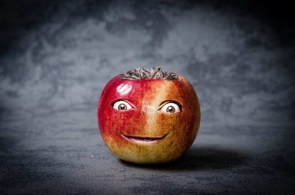 Apple smiling