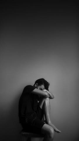 Boy Weeping feeling lonely