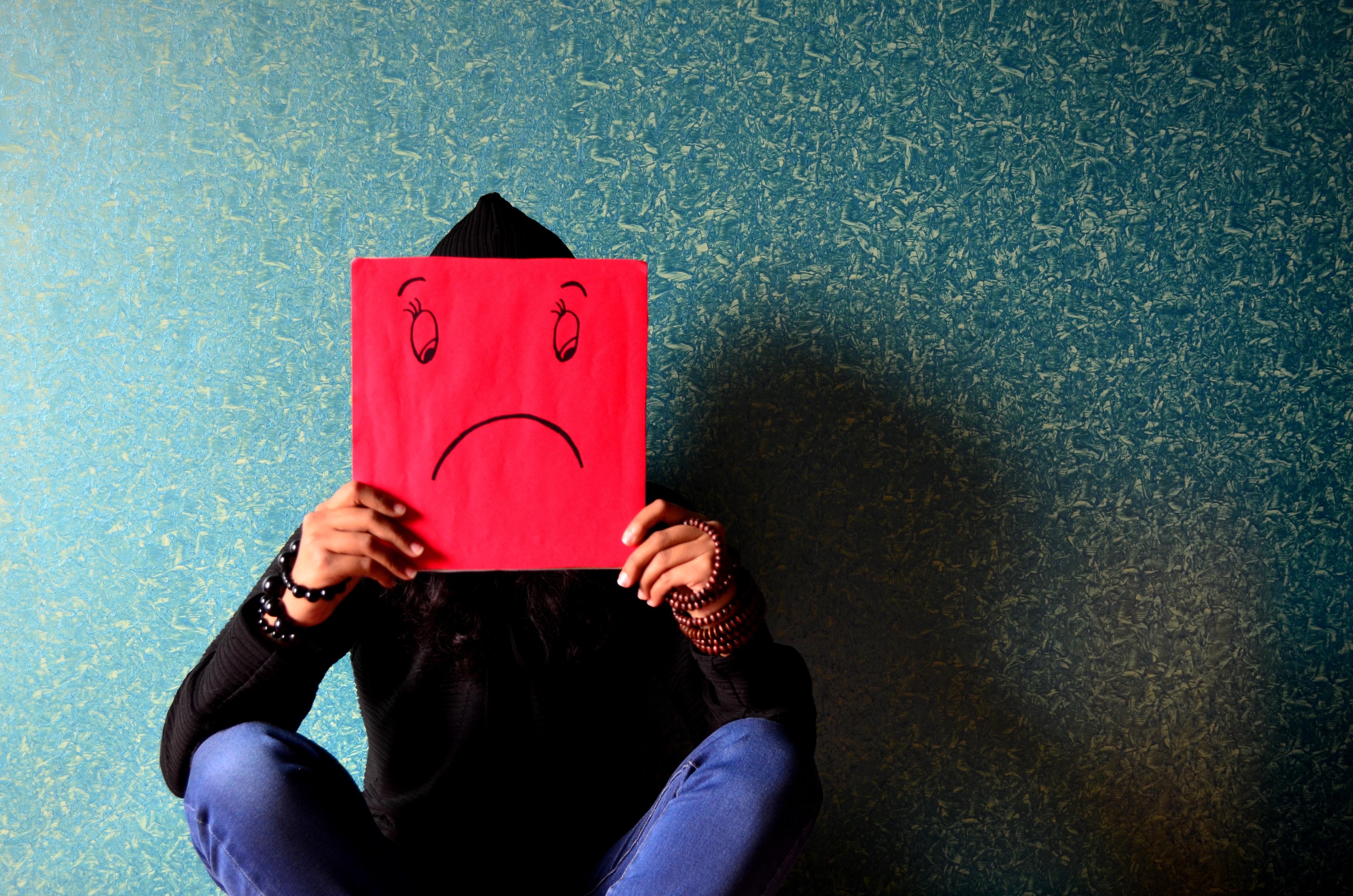 Man showing sad
