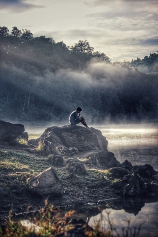 Boy on the hill: feeling lonely