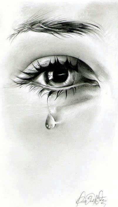 Girl crying art