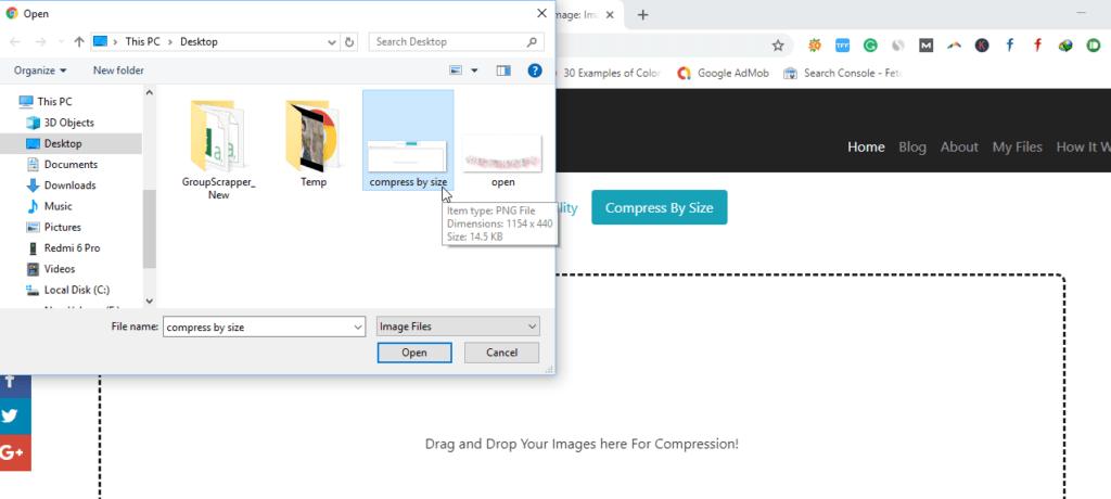 selecting image