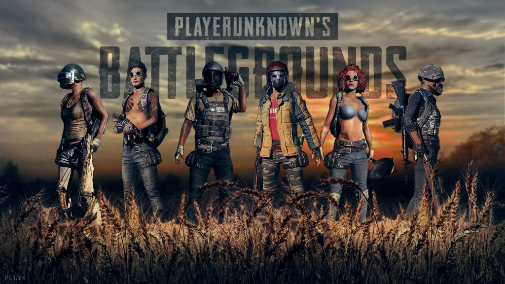 Alike other games PUBG come is two different versions: A team with a sexy Girl