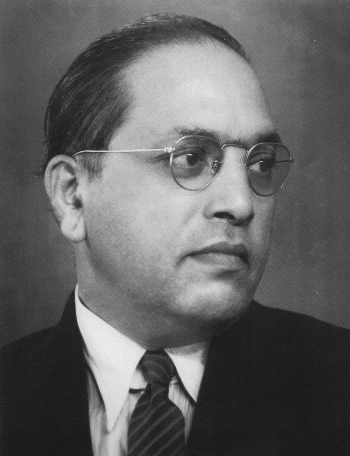 Dr. b r ambedkar is in image.