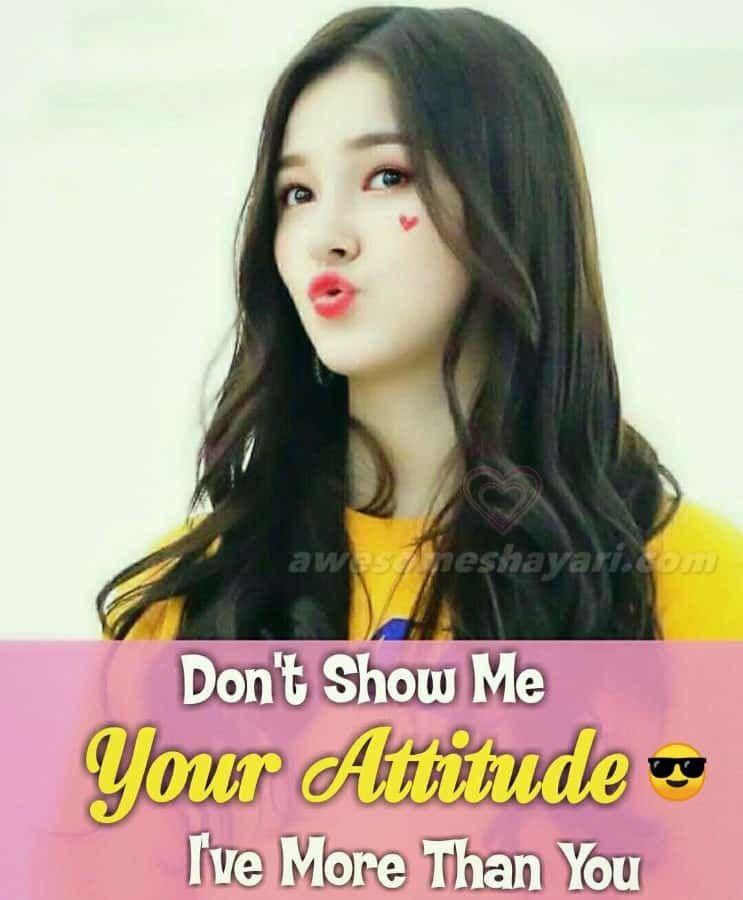attitude girl pic download
