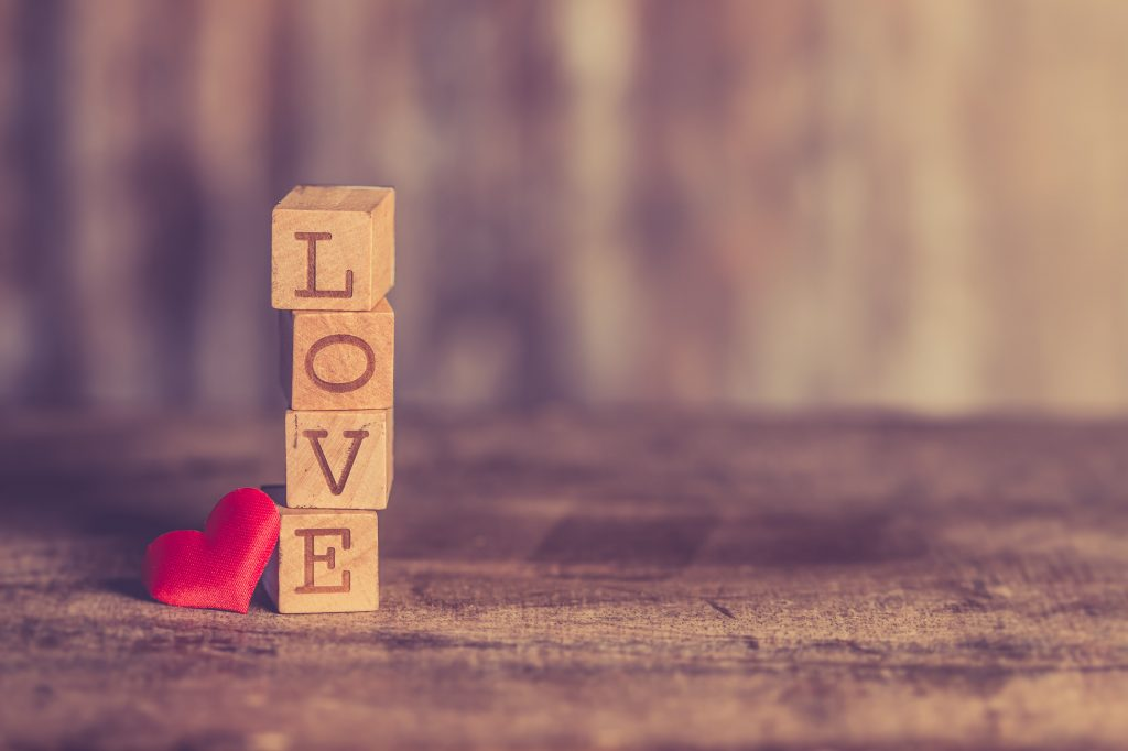 art of love every box have on one letter love