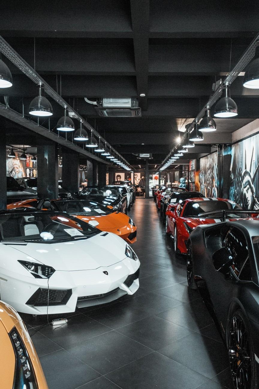 Lamborghini showroom