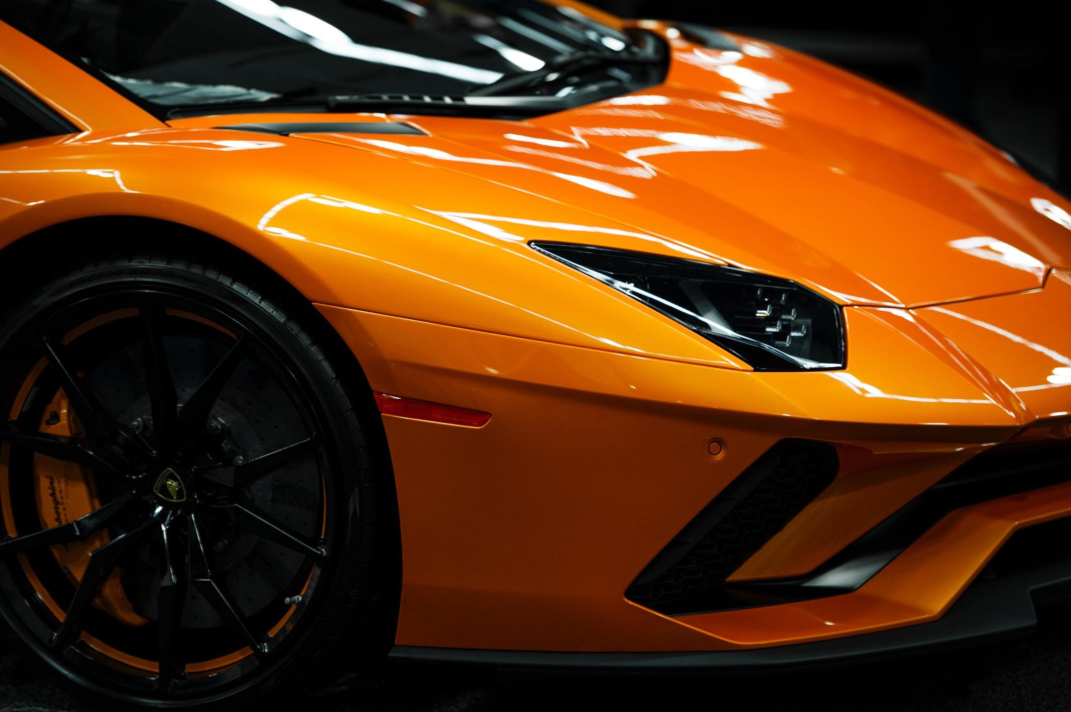 Front of Lamborghini aventador