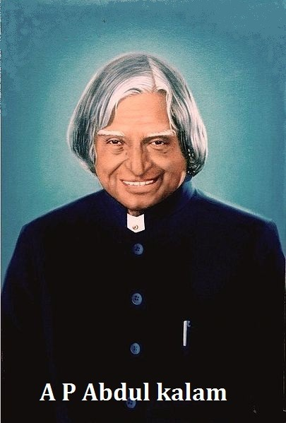 a p abdul kalam have white hairs and wear dark blue coat. dr. a p adul kalam ji have a pen in his pocket.