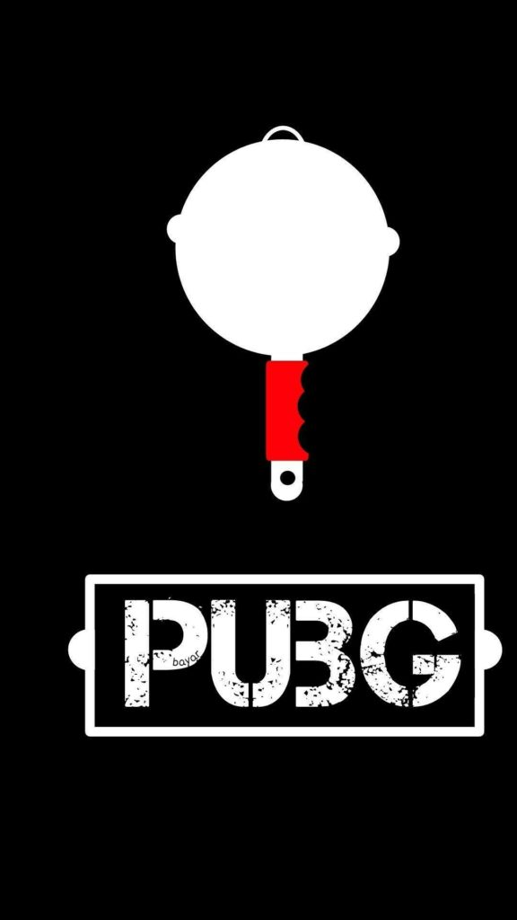 pubg wirte down the white and red pan.