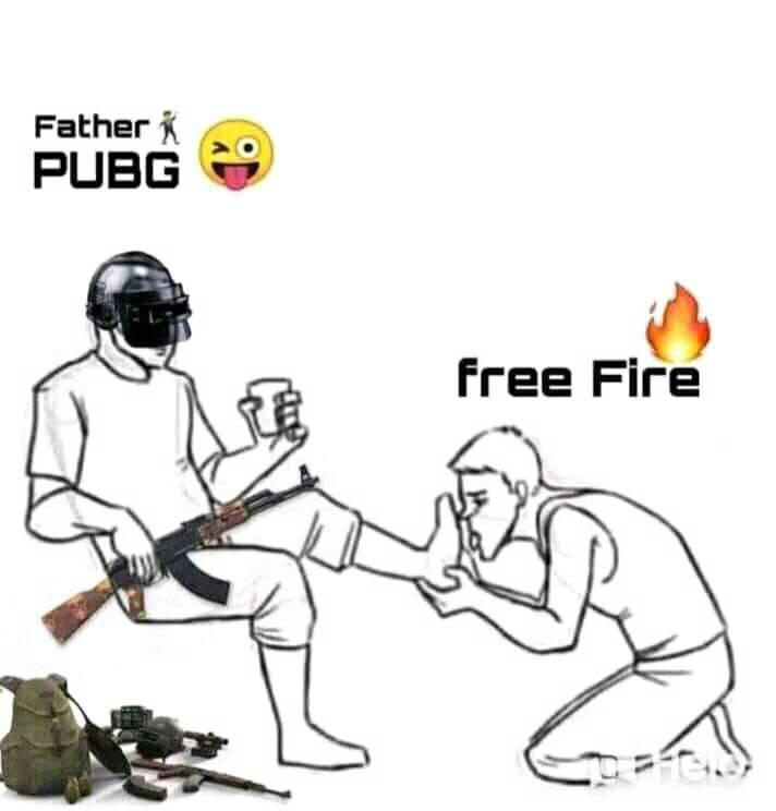 Pubg and free fire funny meme