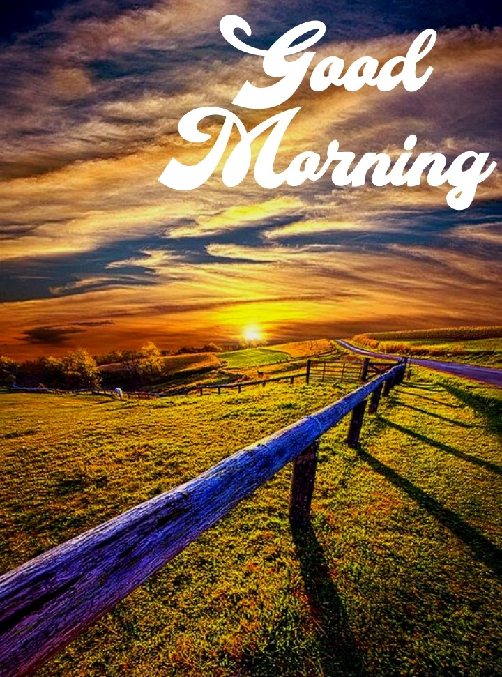 good morning image with nature