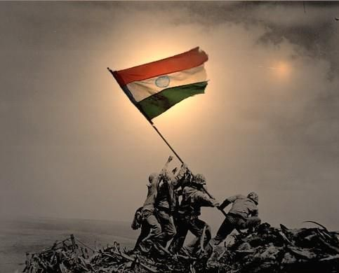 Indian army images with flag