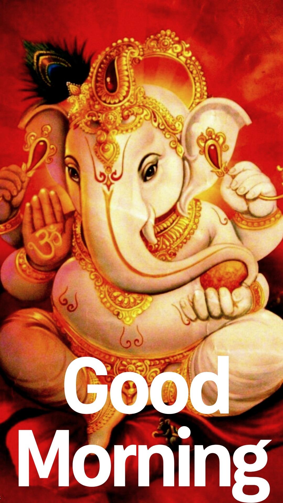 good morning images with ganesha