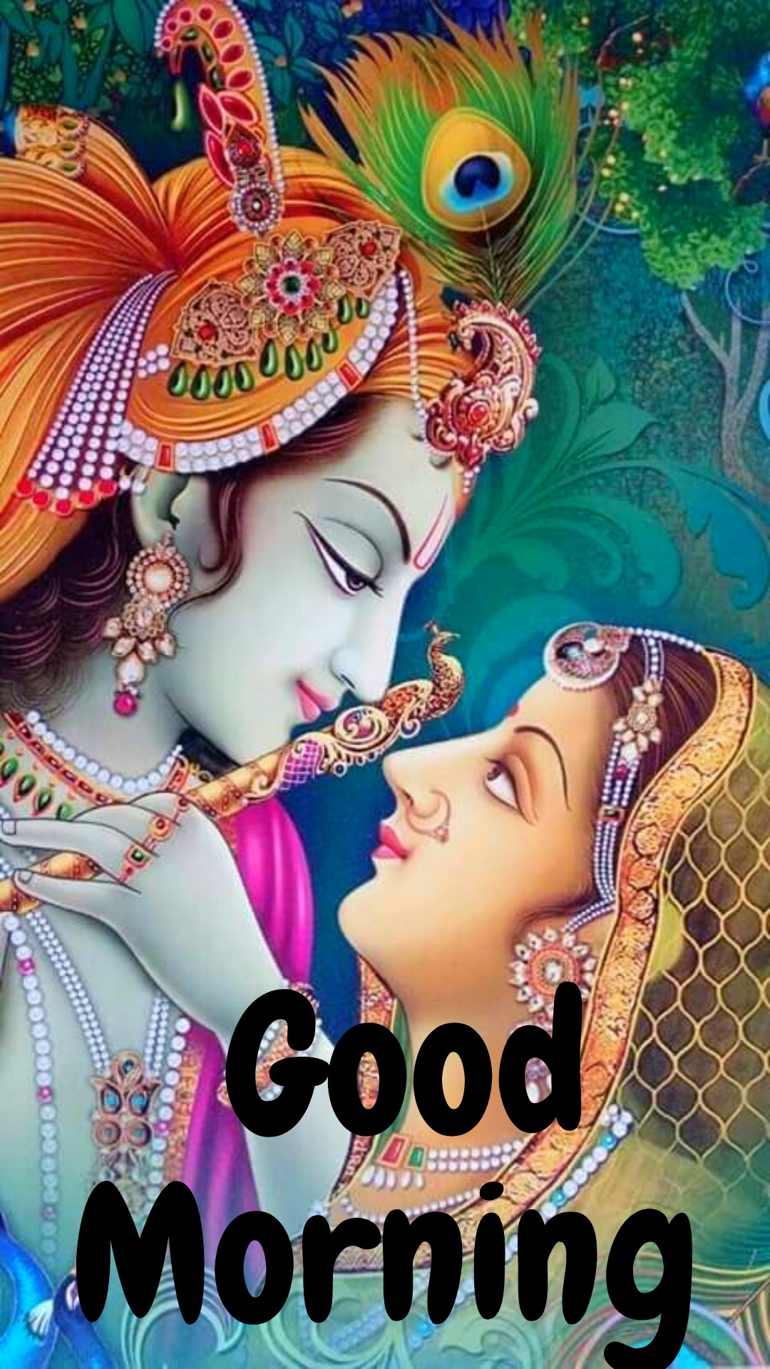 good morning images with radha krishna