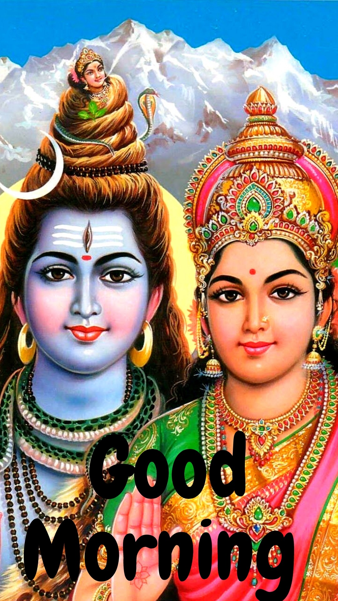 good morning images with shiva parvati