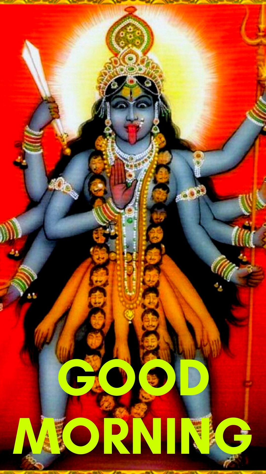 good morning images with maa kali