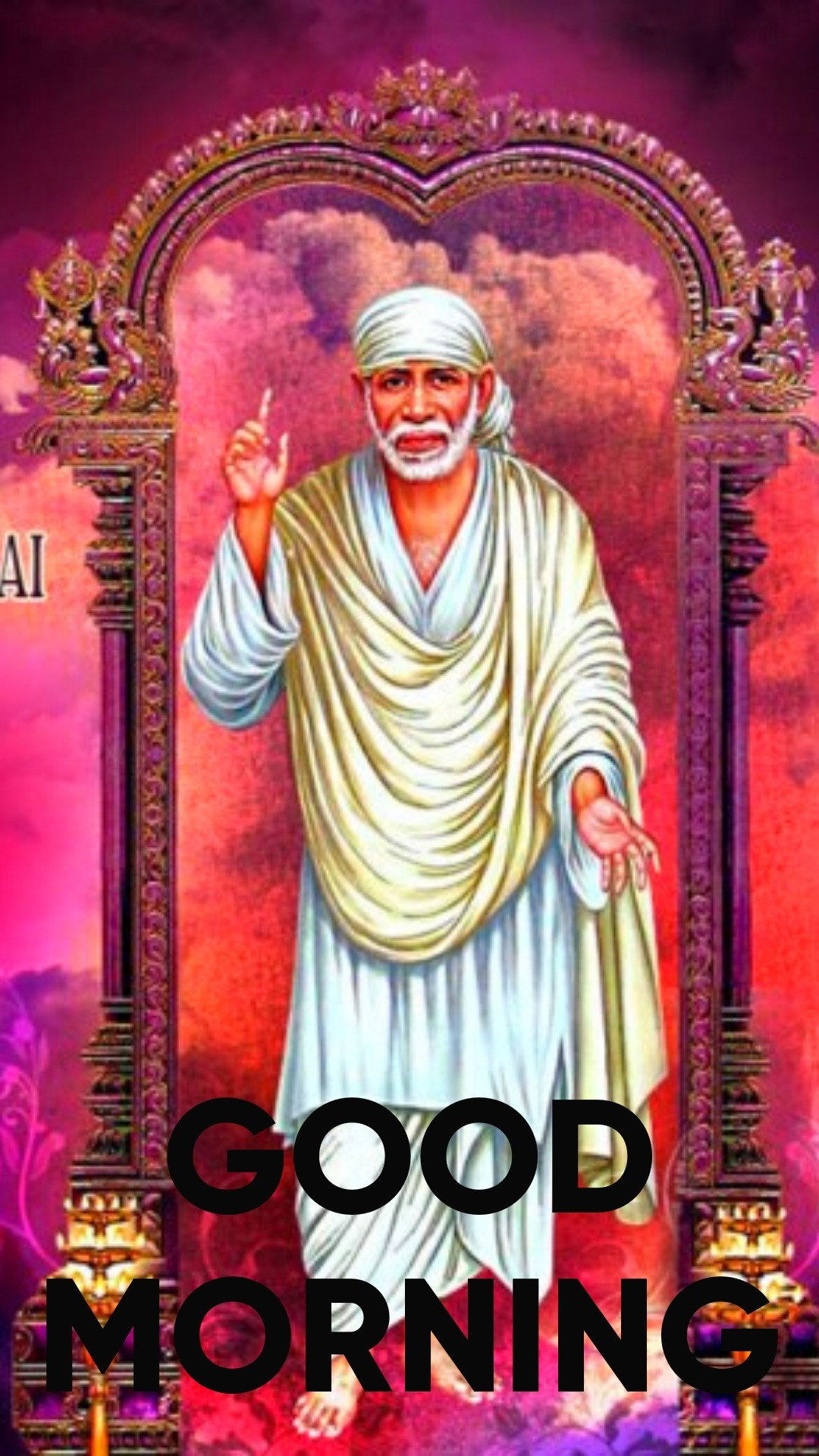 good morning with sai baba images