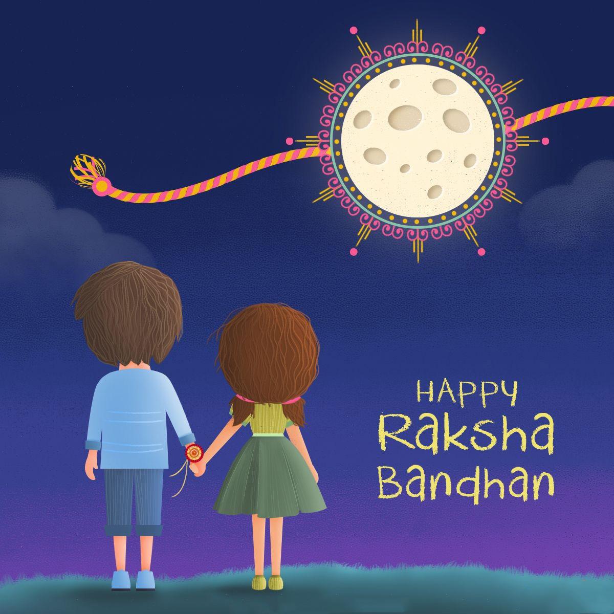 Raksha Bandhan brother and sister photo