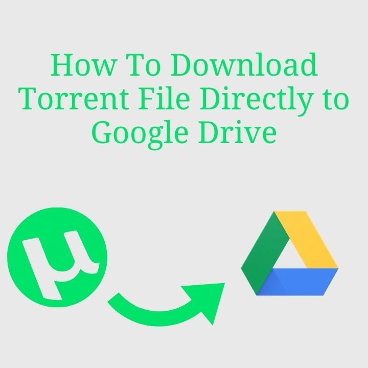 How To Download Torrent File Directly to Google Drive