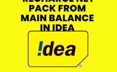 How To Recharge Net Pack From Main Balance In Idea