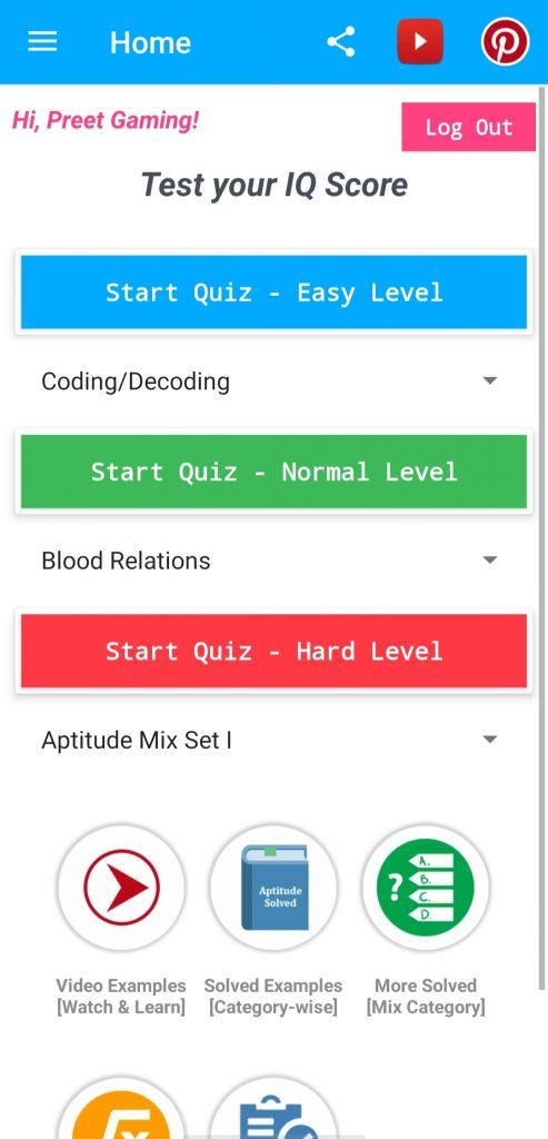 Aptitude & LR Test