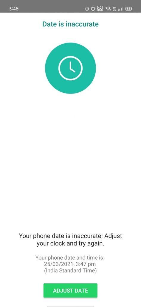 yo WhatsApp date error