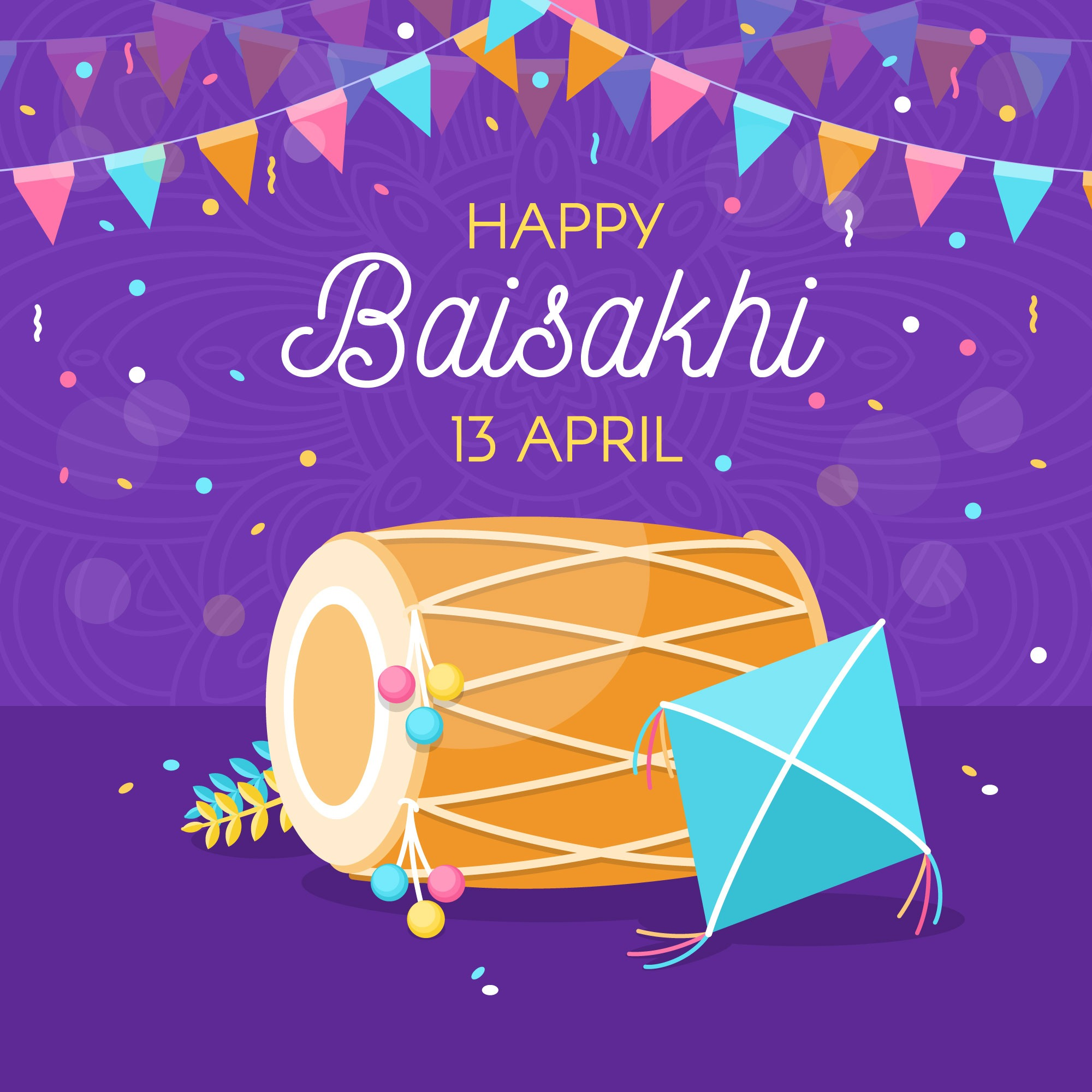 happy baisakhi [currentyear] wallpaper