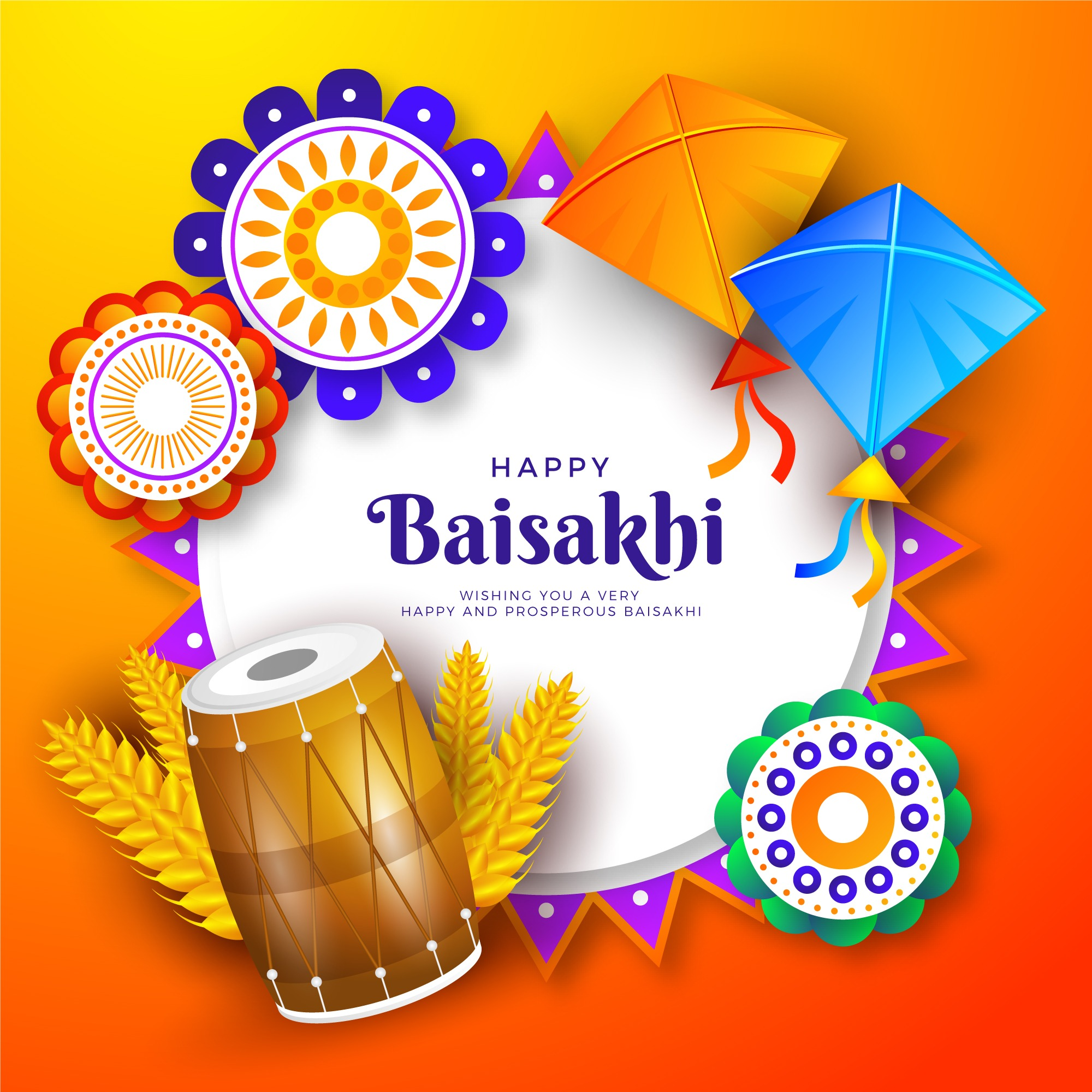 happy baisakhi [currentyear] photo