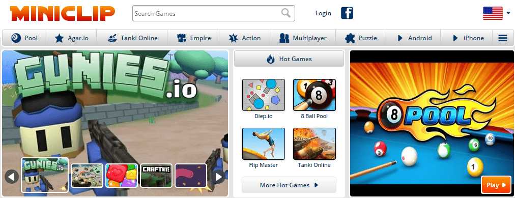 Miniclip.com Where To Play GBA games