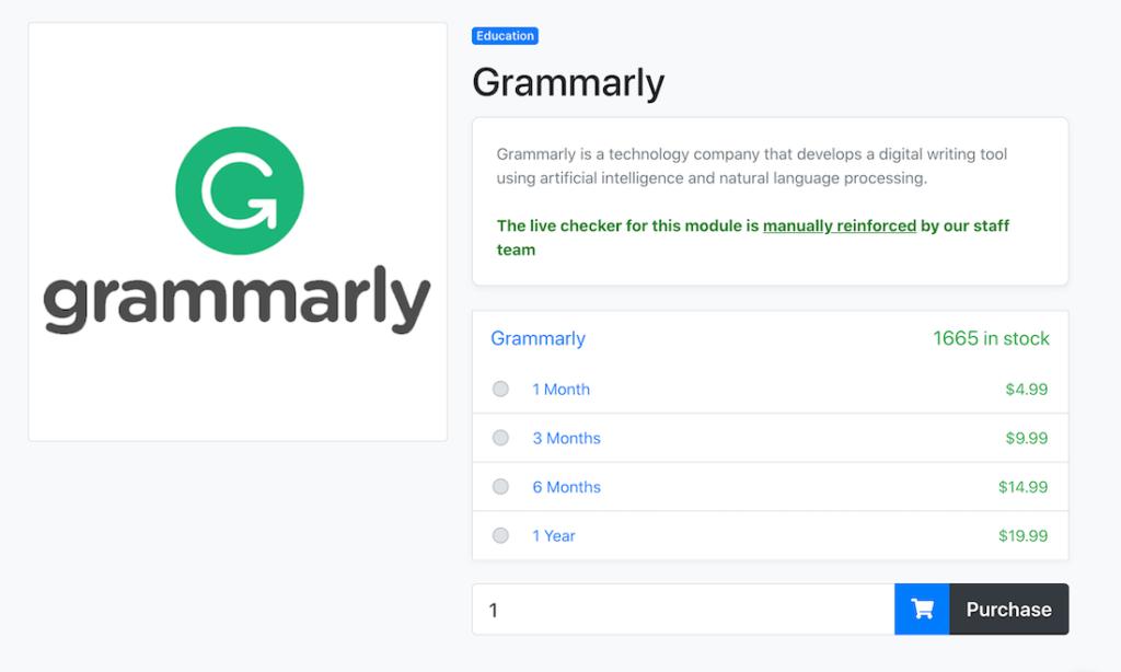 Buy Free Grammarly Account