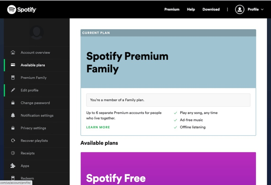 Free Spotify Account