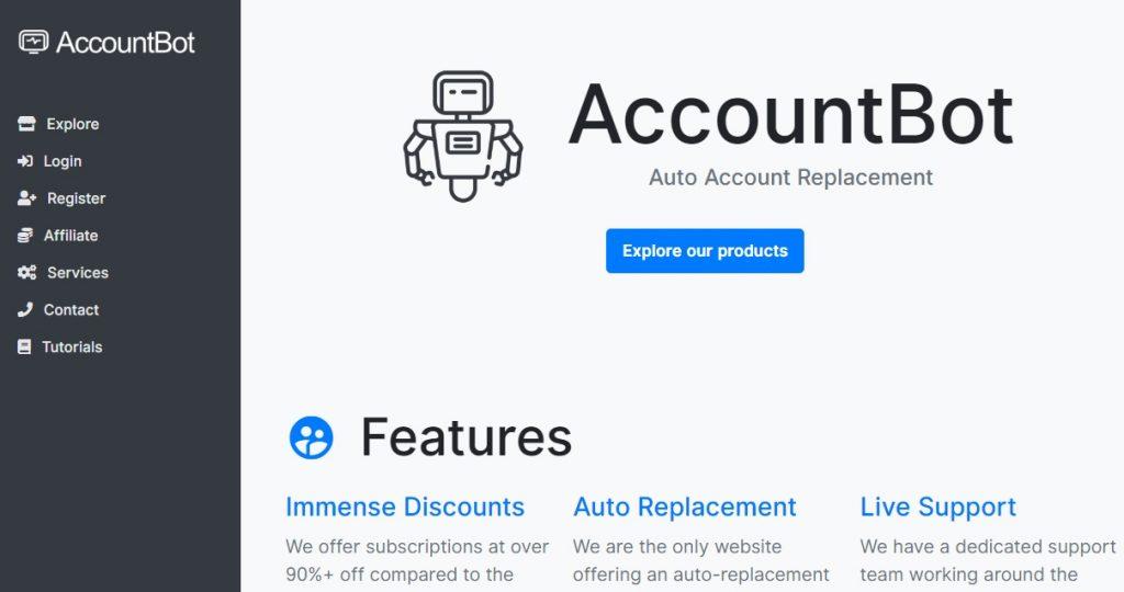 Accountbot website
