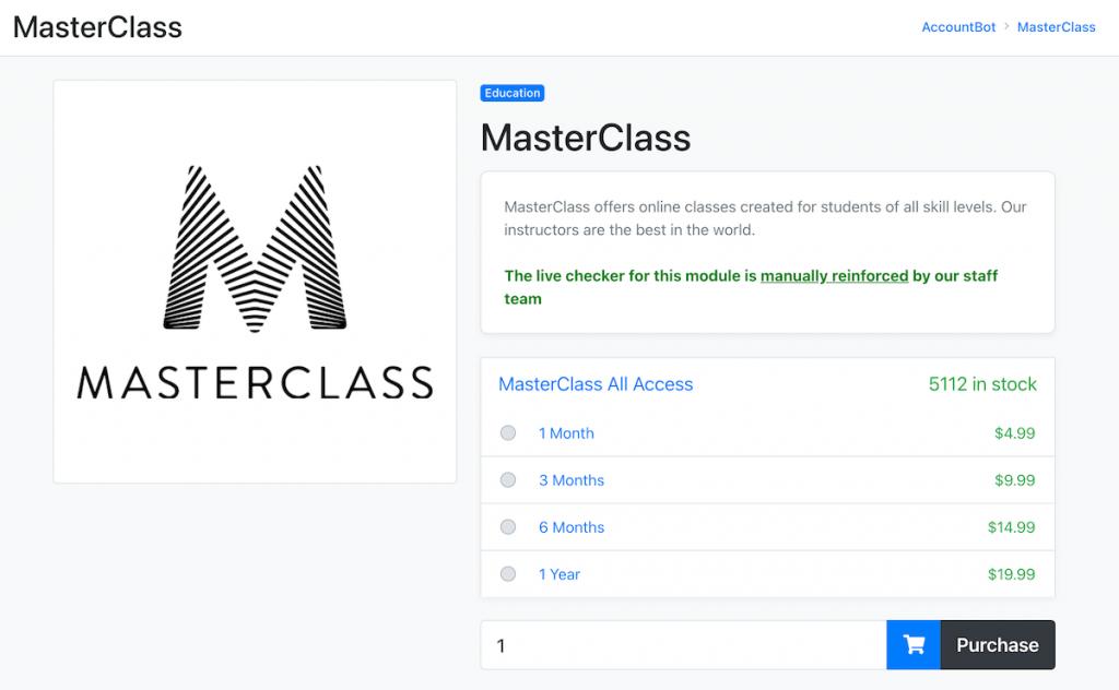 masterclass free account